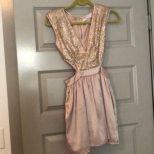 Beautiful formal dress in blush color